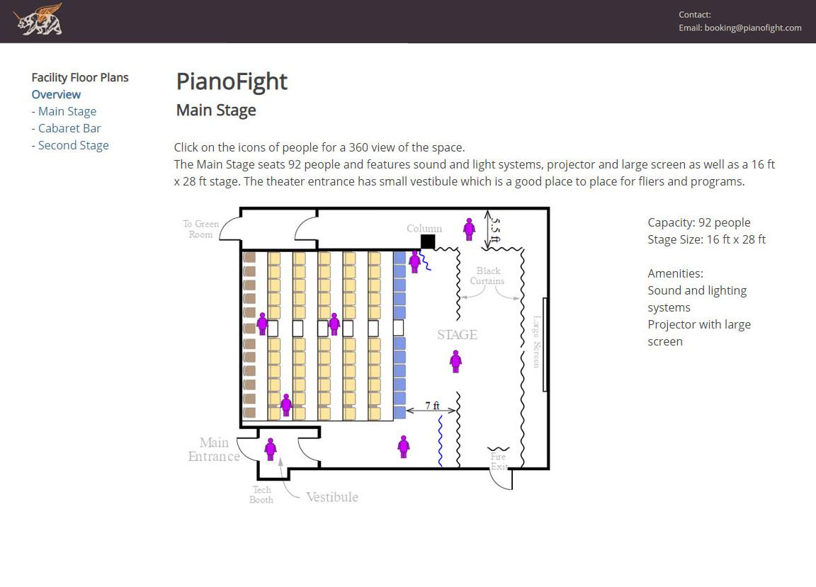 sample venue floor plan animation