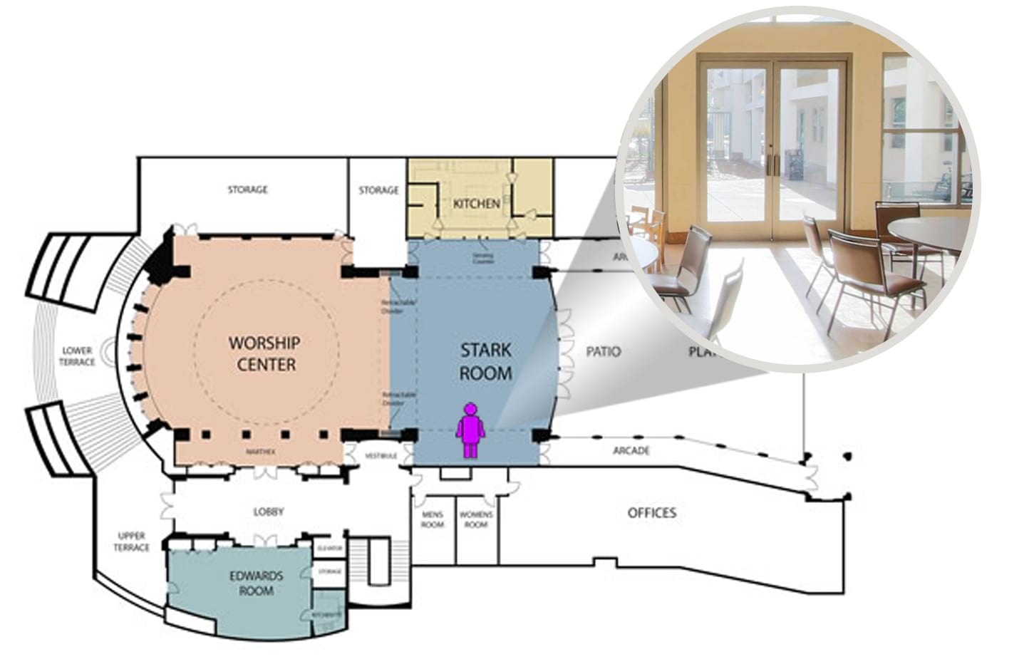 View from spot within the floor plan